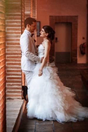 Belle photo d'un couple juste marié