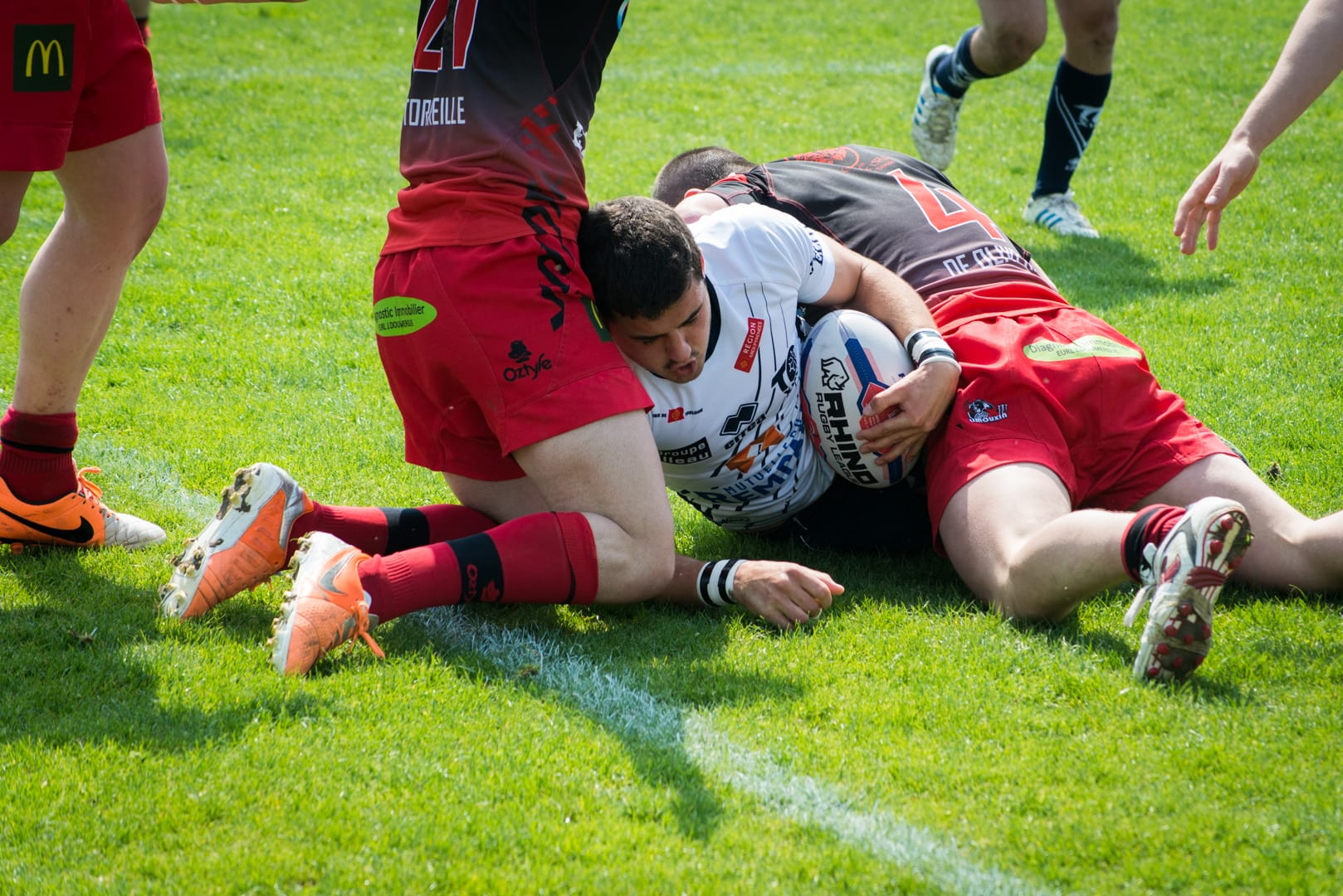 Photo de la finale de la coupe de France Junior de Rugby à XIII : Toulouse - Limoux 21