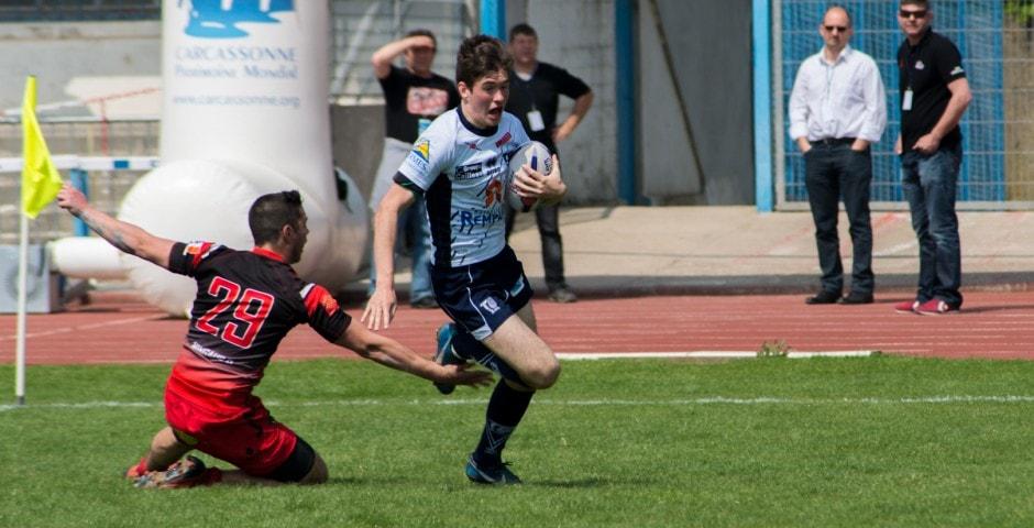 Photo de la finale de la coupe de France Junior de Rugby à XIII : Toulouse - Limoux 19
