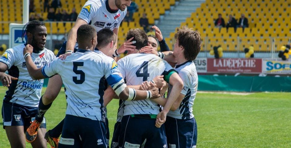 Photo de la finale de la coupe de France Junior de Rugby à XIII : Toulouse - Limoux 13
