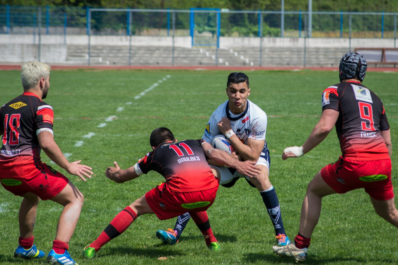 Photo de la finale de la coupe de France Junior de Rugby à XIII : Toulouse - Limoux 12