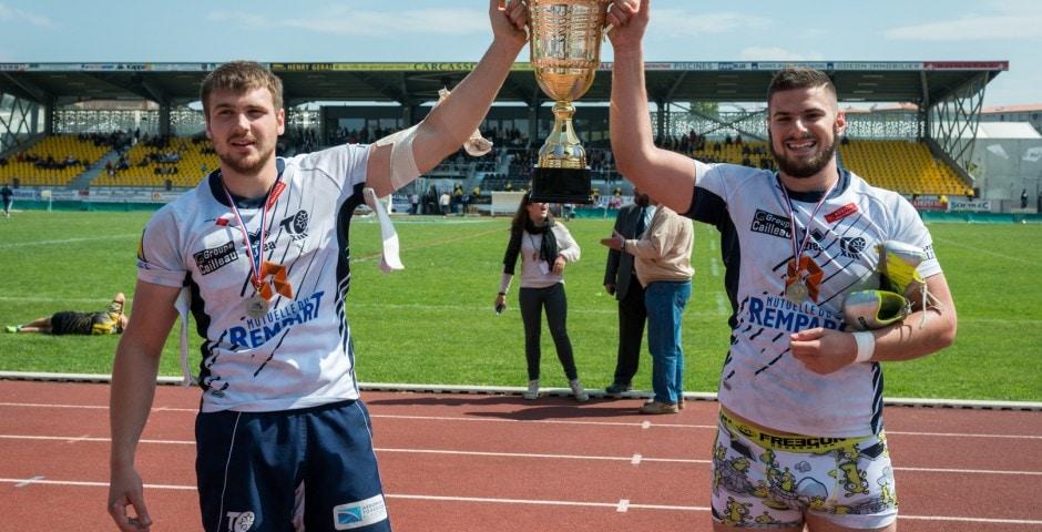 Photo de la finale de la coupe de France Junior de Rugby à XIII : Toulouse - Limoux 2