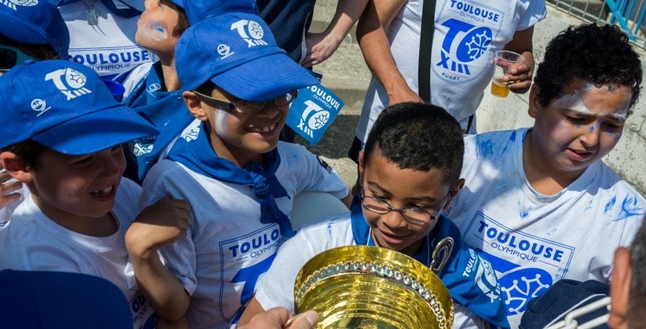 Photo de la finale de la coupe de France Junior de Rugby à XIII : Toulouse - Limoux 1
