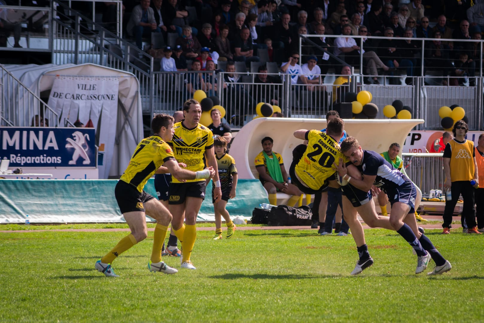 Photo de la finale de la coupe de France de Rugby à XIII : Toulouse - Carcassonne 21