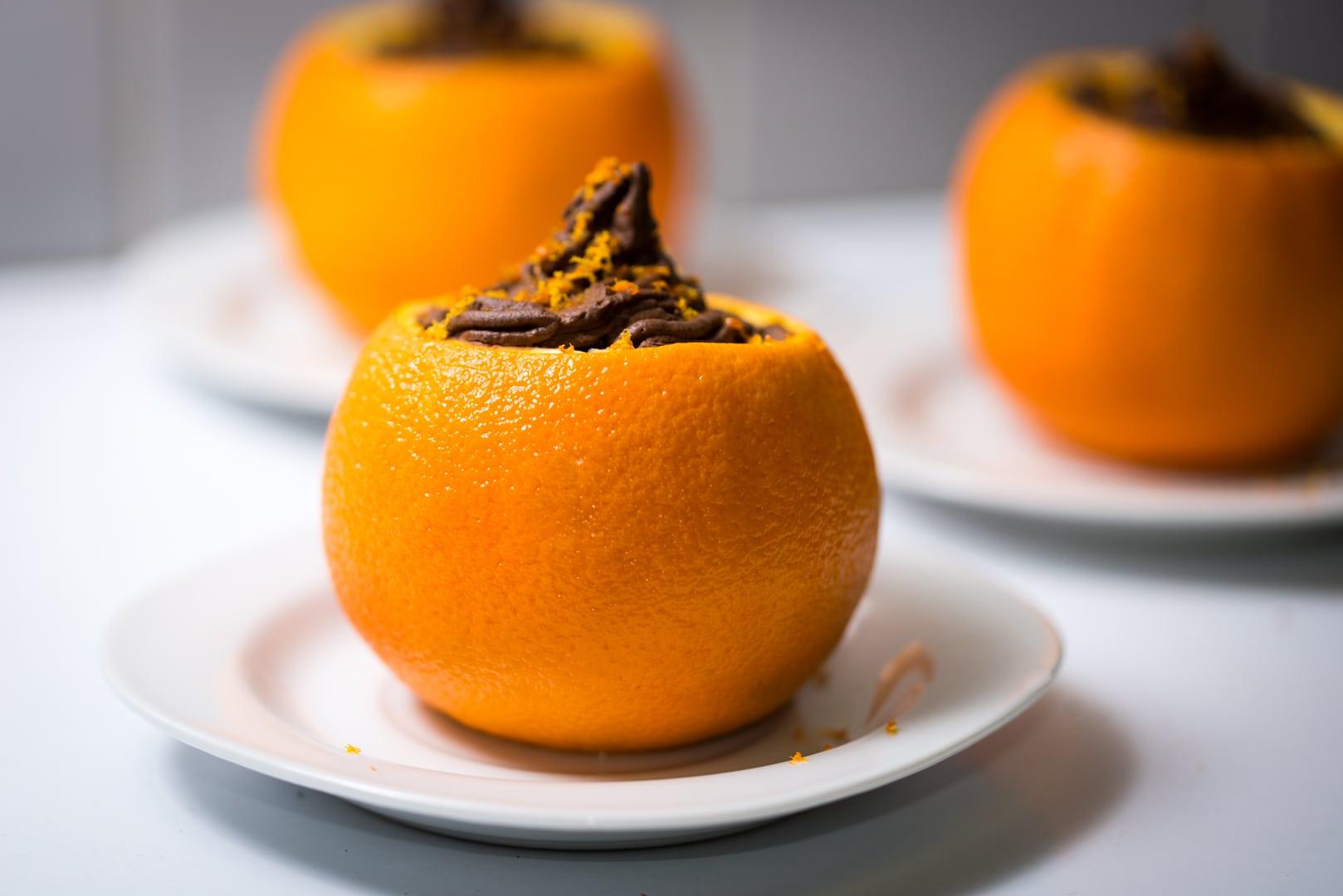 photo d'orange chocolat dessert 2