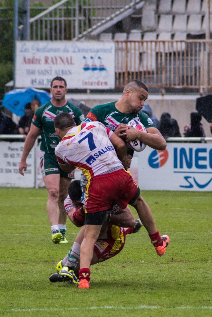 Photo de la demi finale du championnat de France de Rugby à XIII, Lezignan - St Estève 13