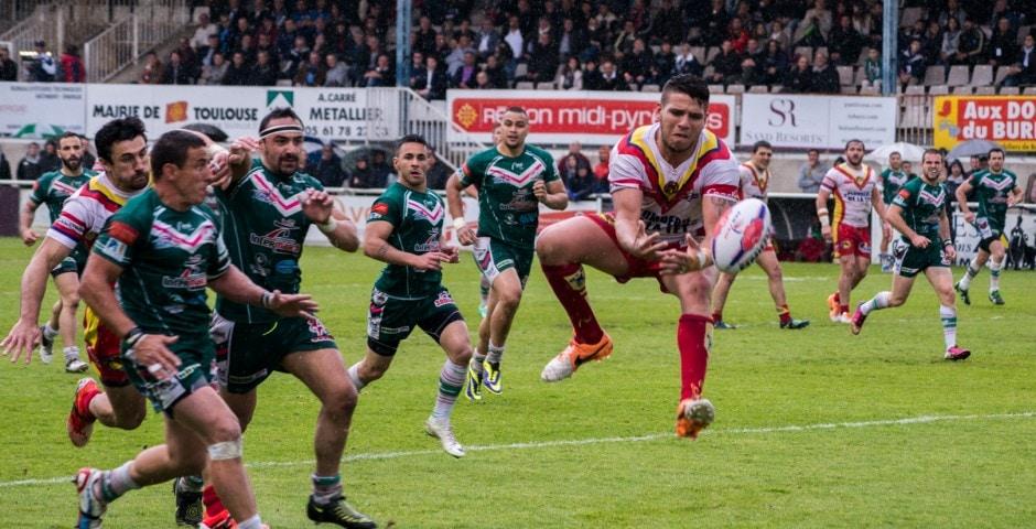 Photo de la demi finale du championnat de France de Rugby à XIII, Lezignan - St Estève 12