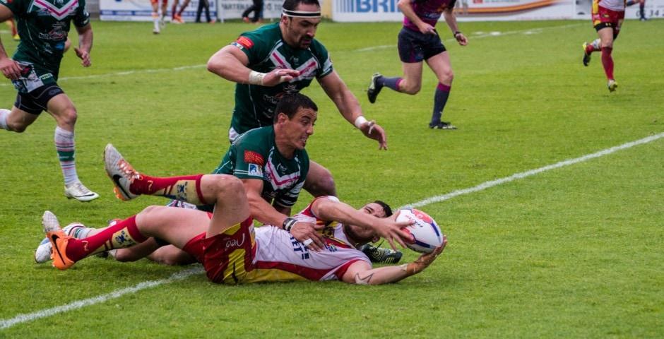 Photo de la demi finale du championnat de France de Rugby à XIII, Lezignan - St Estève 11