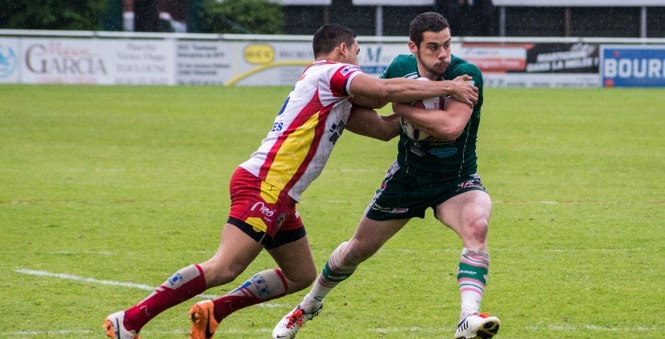 Photo de la demi finale du championnat de France de Rugby à XIII, Lezignan - St Estève 10