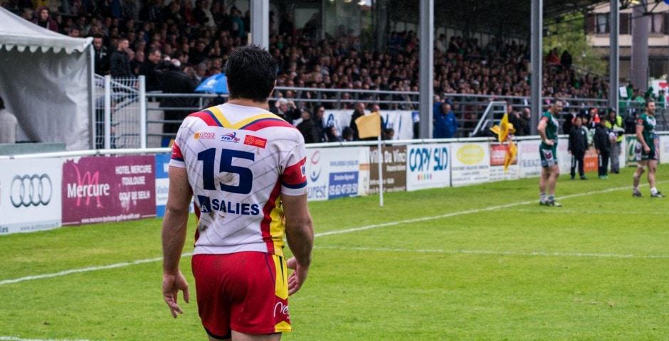 Photo de la demi finale du championnat de France de Rugby à XIII, Lezignan - St Estève 9