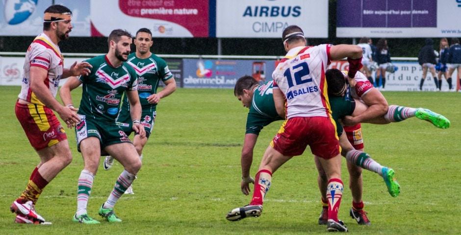 Photo de la demi finale du championnat de France de Rugby à XIII, Lezignan - St Estève 8