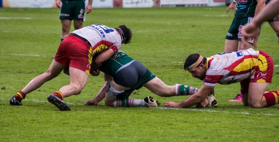 Photo de la demi finale du championnat de France de Rugby à XIII, Lezignan - St Estève 6