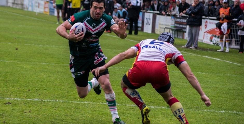 Photo de la demi finale du championnat de France de Rugby à XIII, Lezignan - St Estève 4