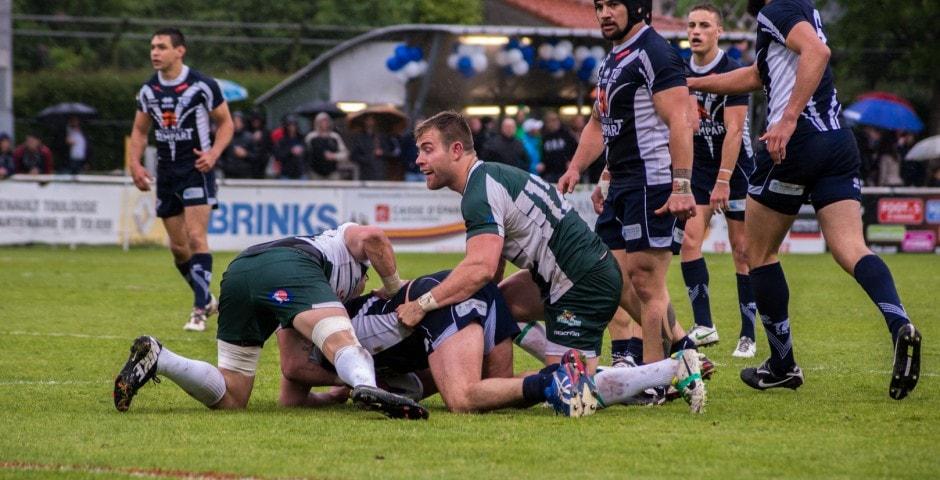 Photo de la demi finale du championnat de France de Rugby à XIII, Toulouse - Villeneuve 21
