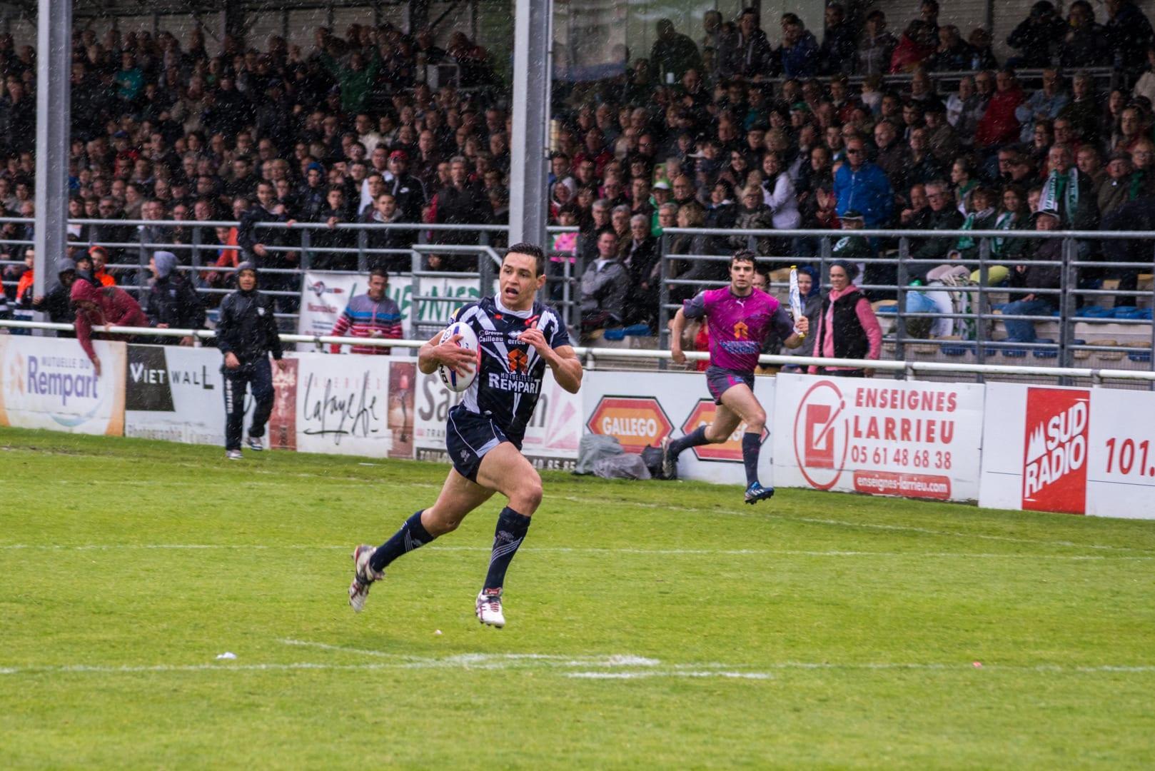 Photo de la demi finale du championnat de France de Rugby à XIII, Toulouse - Villeneuve 20