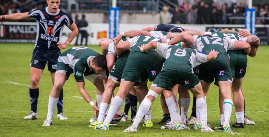 Photo de la demi finale du championnat de France de Rugby à XIII, Toulouse - Villeneuve 17