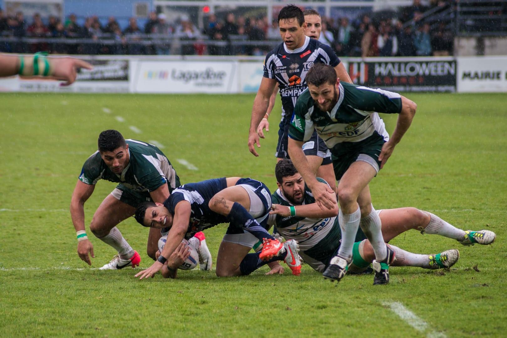 Photo de la demi finale du championnat de France de Rugby à XIII, Toulouse - Villeneuve 16