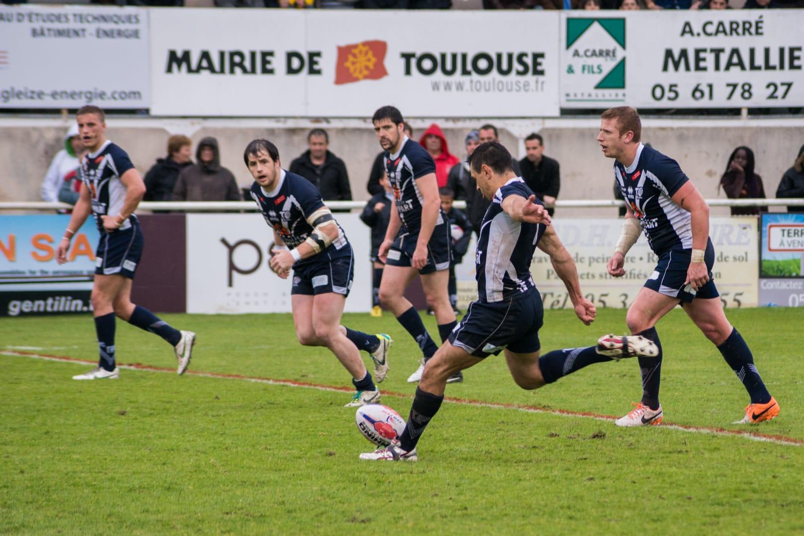 Photo de la demi finale du championnat de France de Rugby à XIII, Toulouse - Villeneuve 14