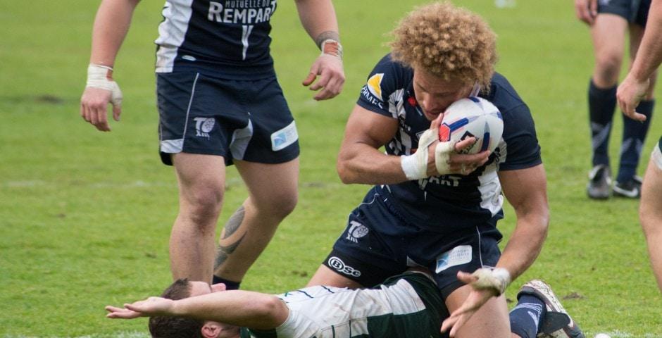 Photo de la demi finale du championnat de France de Rugby à XIII, Toulouse - Villeneuve 10