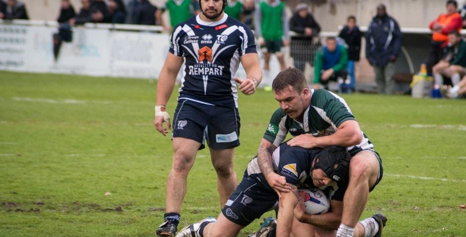 Photo de la demi finale du championnat de France de Rugby à XIII, Toulouse - Villeneuve 9