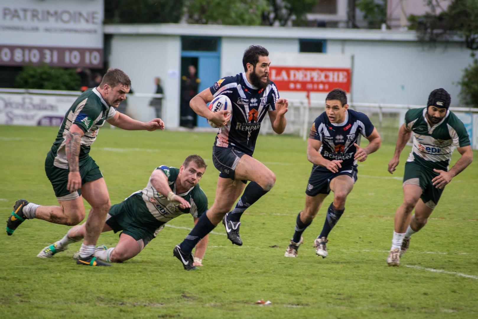 Photo de la demi finale du championnat de France de Rugby à XIII, Toulouse - Villeneuve 8