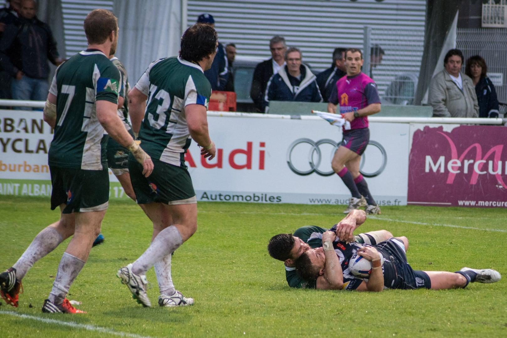 Photo de la demi finale du championnat de France de Rugby à XIII, Toulouse - Villeneuve 7