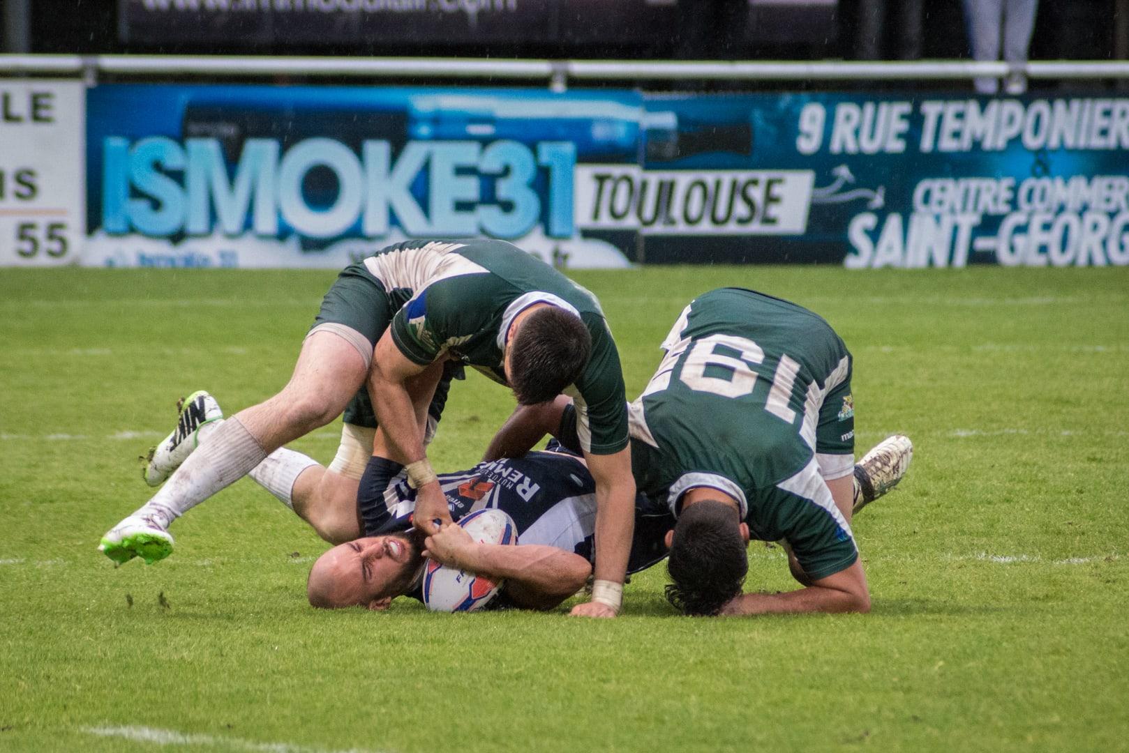 Photo de la demi finale du championnat de France de Rugby à XIII, Toulouse - Villeneuve 6