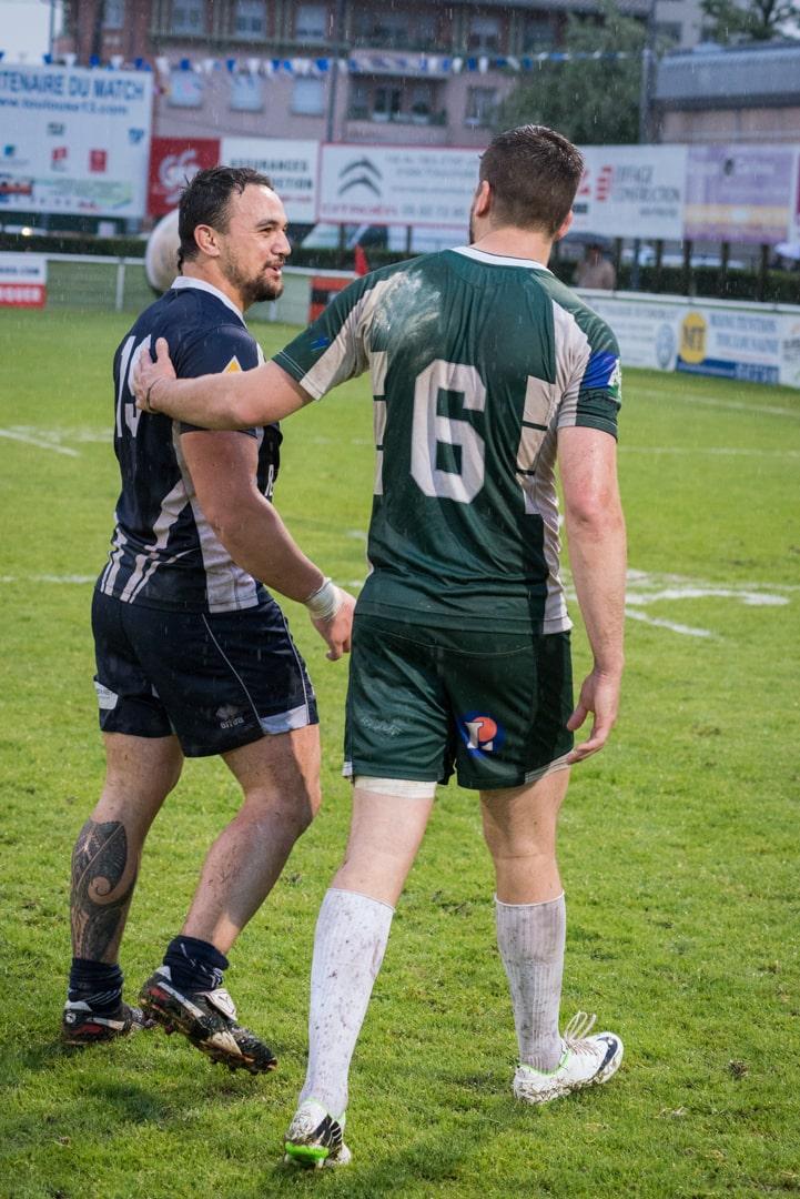Photo de la demi finale du championnat de France de Rugby à XIII, Toulouse - Villeneuve 1