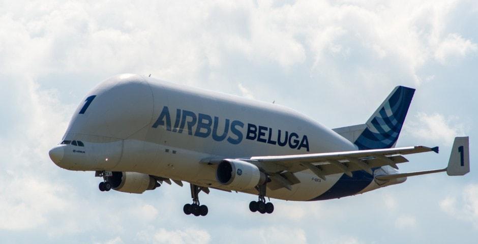 Photo d'avion le Beluga de Airbus lors du meeting aérien sur Toulouse ( Lherm) 1