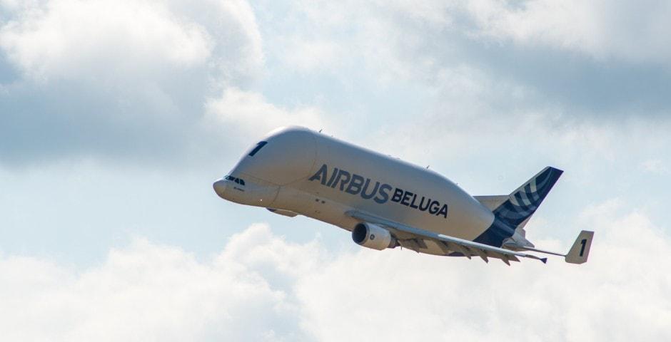 Photo d'avion le Beluga de Airbus lors du meeting aérien sur Toulouse ( Lherm)