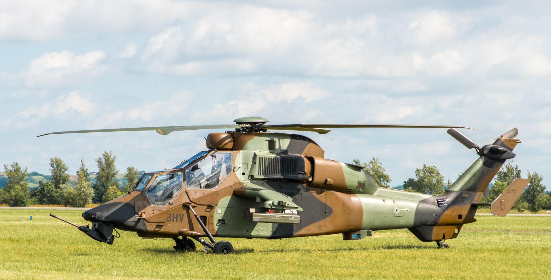 Photo de l'hélicoptère le Tigre lors du meeting aérien sur Toulouse ( Lherm)