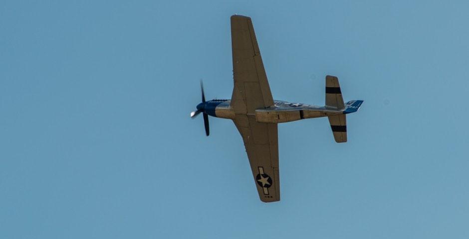 Photo d'avion du p51 mustang lors du meeting aérien sur Toulouse ( Lherm) 6