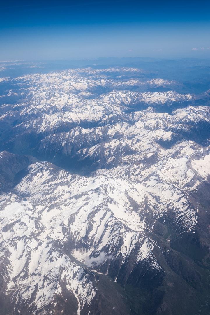 photo des Pyrénées prise en vol