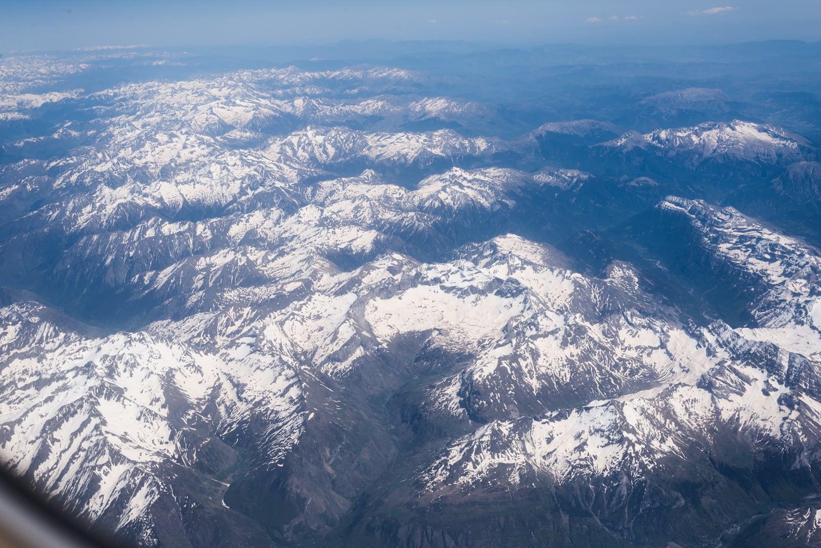 photo des Pyrénées prise lors en vol