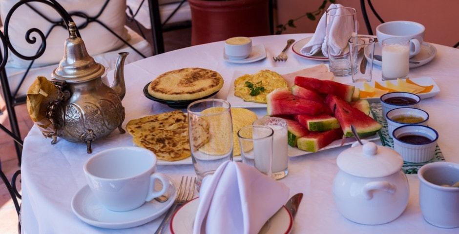 photo d'un petit déjeuner à Marrakech voyage au Maroc