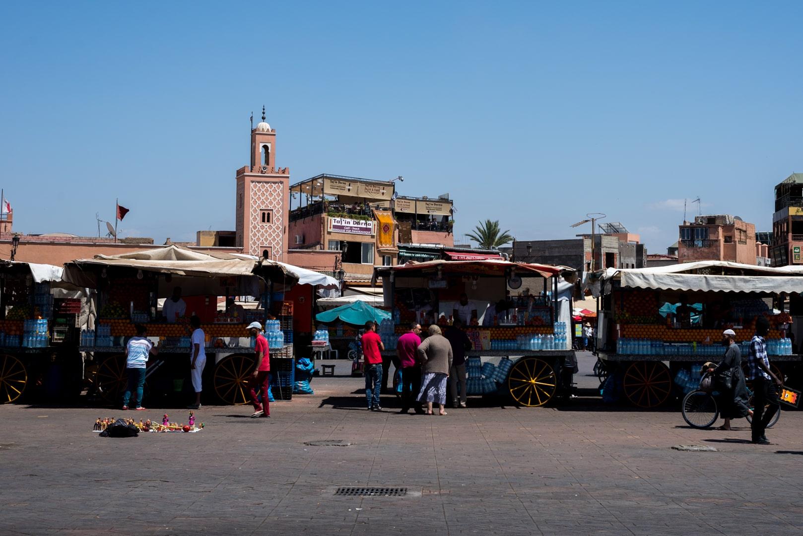 photo de la place El FNA de Marrakech voyage Maroc 4