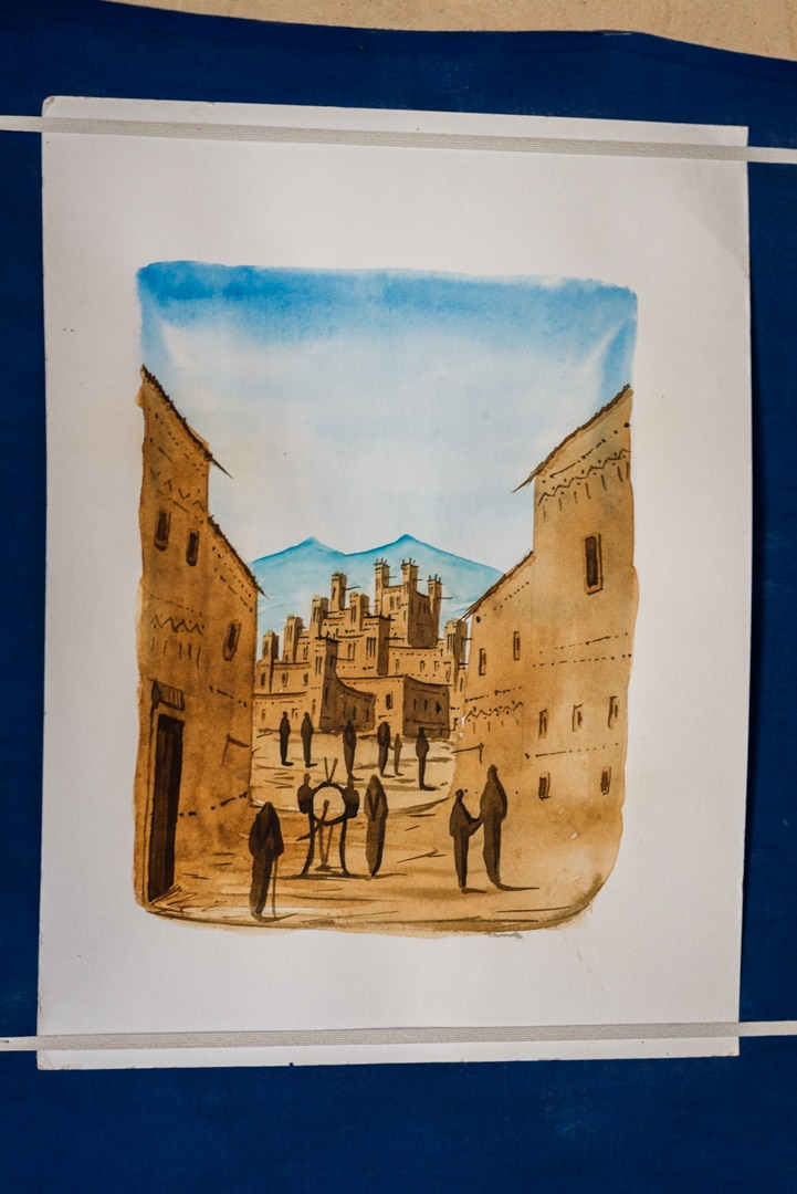 photo dessin berbère à Ait Ben Haddou voyage au Maroc