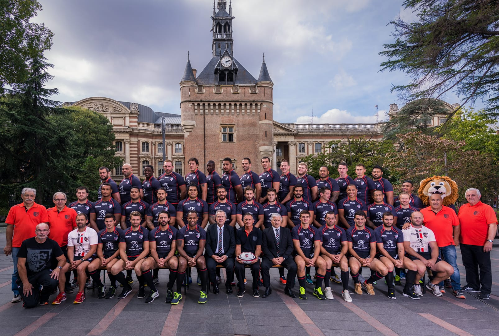 Photo officielle Stade Toulousain 2015 - Place du capitole