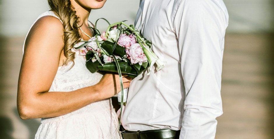 Couple mariage témoins