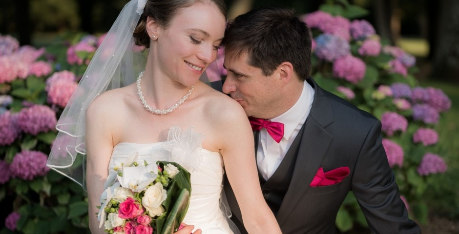 Photo romantique et naturel mariage