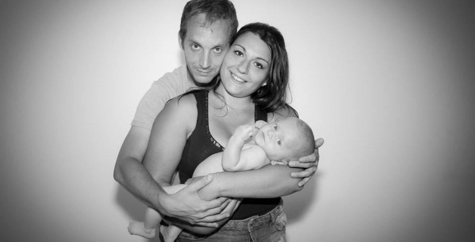 Jolie petite famille noir et blanc